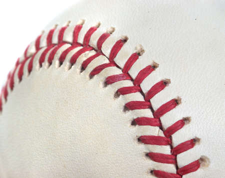 Closeup of a baseball perfect for a sports background mural