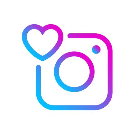 Illustration pour Social media icon comment label gradient color Instagram. Insta Comment button, symbol, ui, sign, logo. Message sign, post symbol. Vector illustration. EPS 10 - image libre de droit