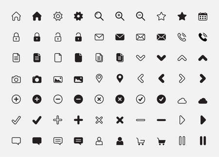 Illustration for basic icon set vector illustration - Royalty Free Image