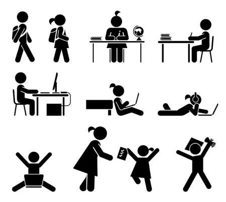 Illustration pour Back to school set - image libre de droit