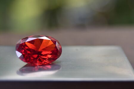 Photo for ruby Is red gem Beautiful by nature For making expensive jewelry - Royalty Free Image