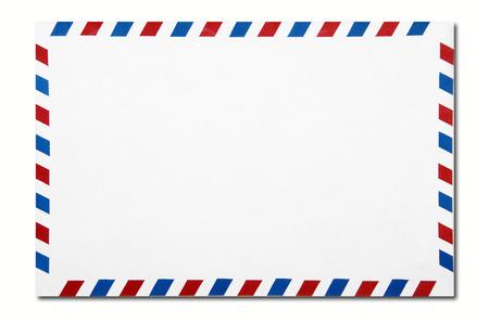 Foto de classic air mail envelope isolated on white background - Imagen libre de derechos