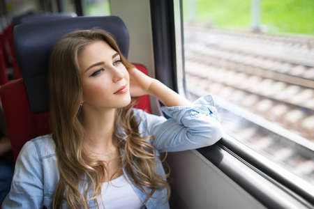 Young girl of the train