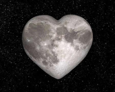 Photo pour Moon in the shape of a heart - image libre de droit