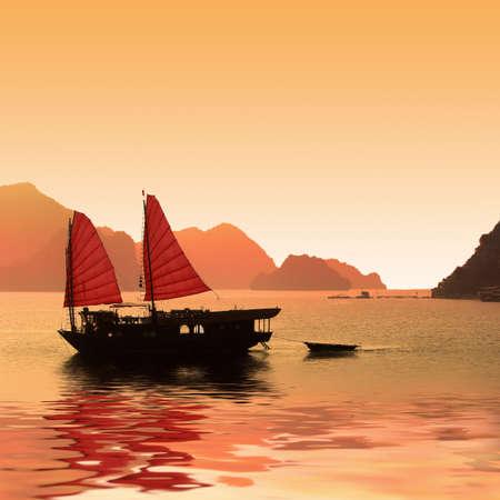 Photo for Junk boat, Halong Bay, Vietnam - Royalty Free Image