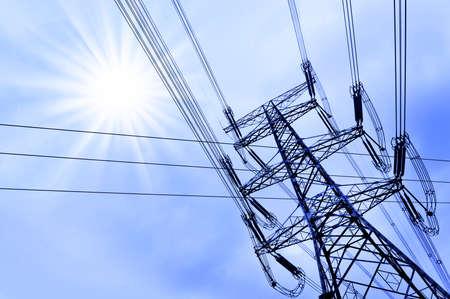 Foto de Electricy pylon - Imagen libre de derechos