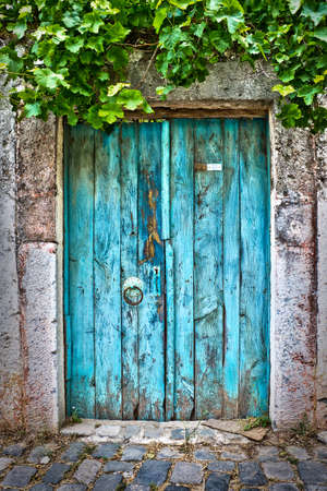Photo for Old blue door - Royalty Free Image