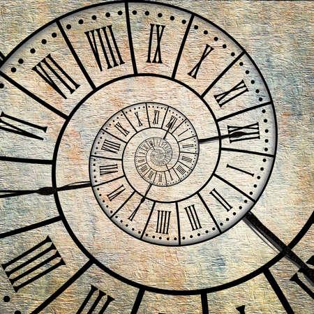 Photo pour Time spiral, vintage sepia textured background - image libre de droit