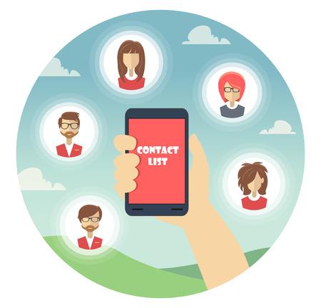 Illustration pour Store Flat Icon contact list for Business and shop - image libre de droit