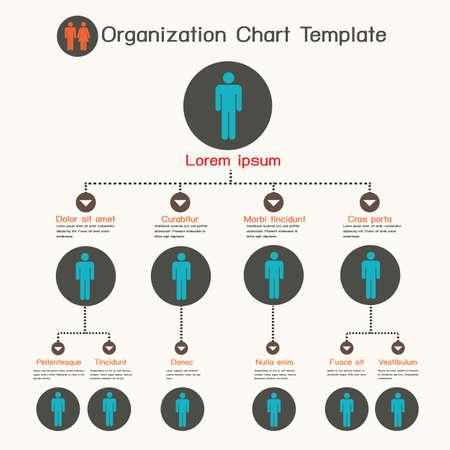 Ilustración de Organization chart template - Imagen libre de derechos