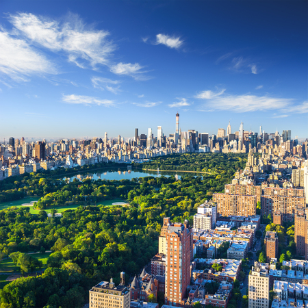 Photo pour Central Park aerial view, Manhattan, New York - image libre de droit