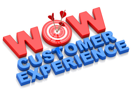Photo pour wow customer experience - image libre de droit