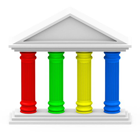 Photo for the four-pillar strategy - Royalty Free Image