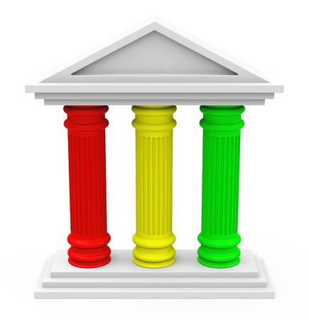 Photo pour the three-pillar strategy - image libre de droit