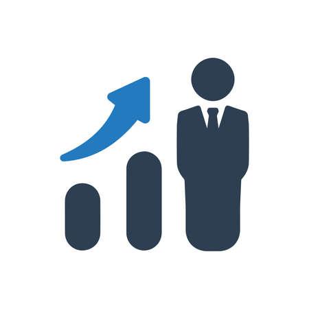 Ilustración de Beautiful, Meticulously Designed Business Growth Icon - Imagen libre de derechos
