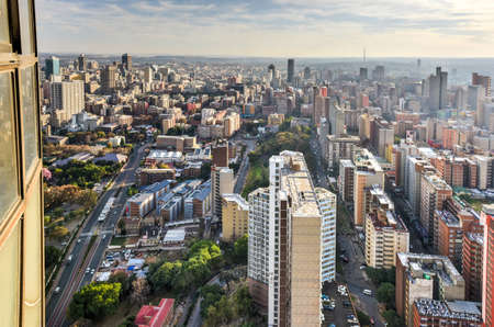 Photo for View from Ponte Tower unto the skyline of Johannesburg. - Royalty Free Image