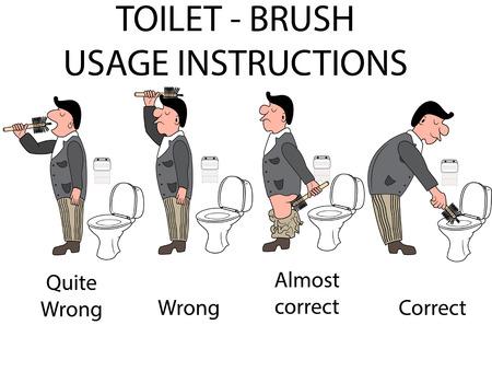 User toilet instructions