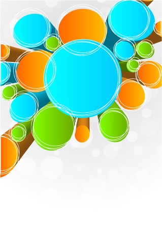 Illustration for Abstract background with circles - Royalty Free Image