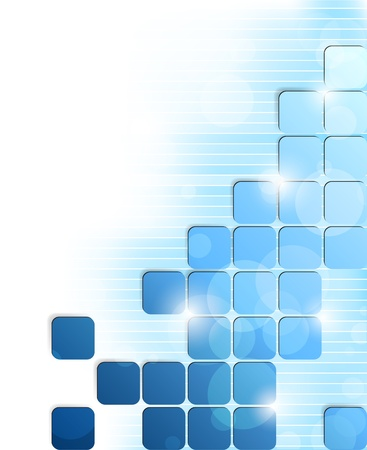 Photo pour Abstract bright background with blue squares and stripes - image libre de droit