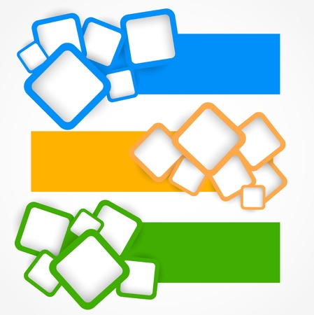 Illustration pour Set of banners with squares. Abstract illustration - image libre de droit