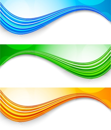 Set of tech banners. Abstract colorful illustration