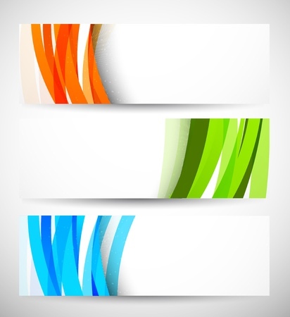 Foto de Set of banners with lines  Abstract illustraiton - Imagen libre de derechos