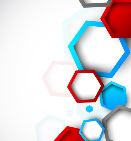 Foto de Abstract background with hexagons  Bright illustration - Imagen libre de derechos