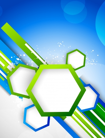 Illustration for Abstract background with hexagons - Royalty Free Image