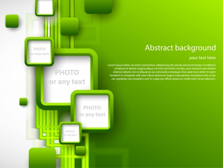 Photo pour Abstract green brochure  - image libre de droit
