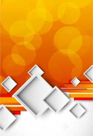 Illustration pour Abstract orange brochure with squares - image libre de droit