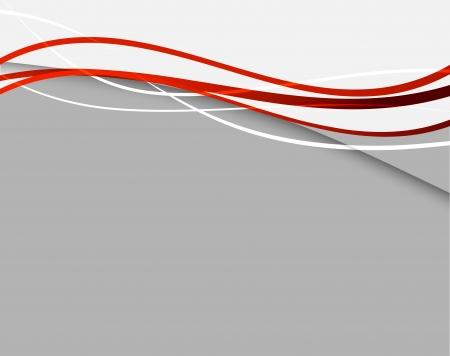 Ilustración de Abstract background with red lines - Imagen libre de derechos
