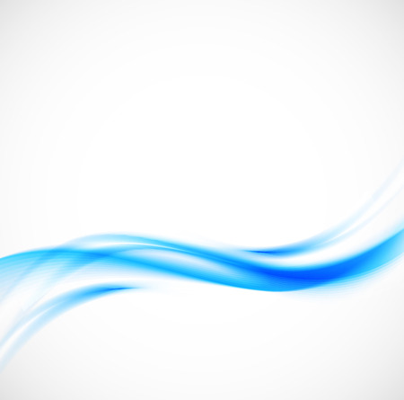 Ilustración de Abstract blue wavy background - Imagen libre de derechos