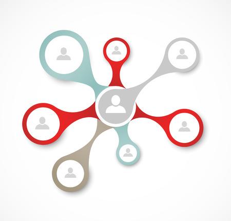 Illustration pour Social network concept - image libre de droit