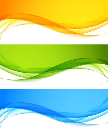 Ilustración de Set of wavy banners - Imagen libre de derechos