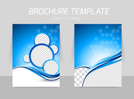 Illustration pour Flyer template back and front design - image libre de droit