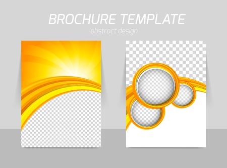 Ilustración de Flyer template back and front design - Imagen libre de derechos