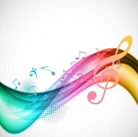 Ilustración de Colorful music background - Imagen libre de derechos