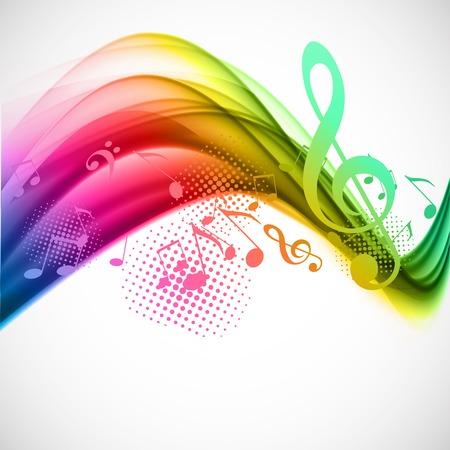 Illustration pour Colorful music background - image libre de droit