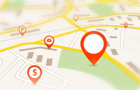 Illustration pour Navigation map - image libre de droit