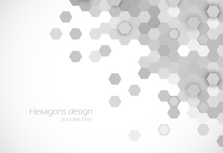 Photo pour Hexagons background - image libre de droit