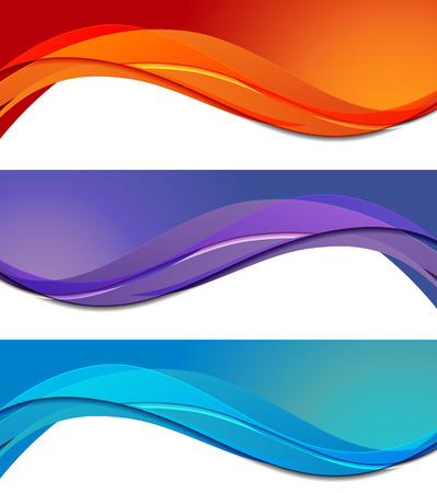 Ilustración de Set of banners in abstract material design style - Imagen libre de derechos
