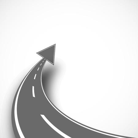 Ilustración de Road with arrow on isolated background with shadow - Imagen libre de derechos