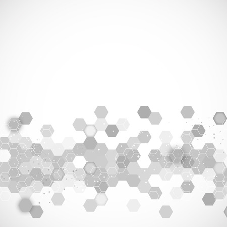 Illustration pour Science background with hexagons design illustration - image libre de droit
