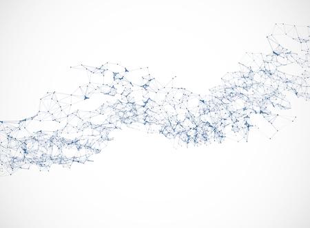 Ilustración de Polygonal background vector illustration science  connection design - Imagen libre de derechos