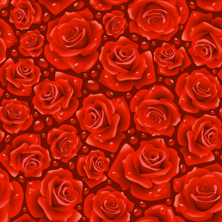 red Rose seamless background