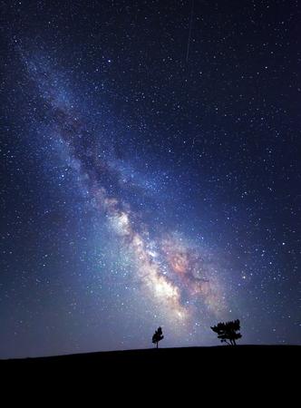 Foto de Milky Way. Beautiful summer night sky with stars. Background. - Imagen libre de derechos