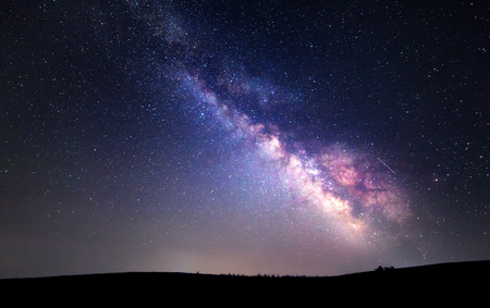 Photo pour Milky Way. Beautiful summer night sky with stars. Background. - image libre de droit