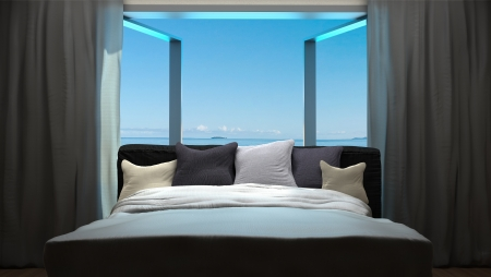 Photo for vacation concept background with interior elements of bedroom - Royalty Free Image