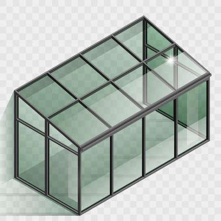 Illustration pour Greenhouse or winter garden. Vector graphic with transparency - image libre de droit