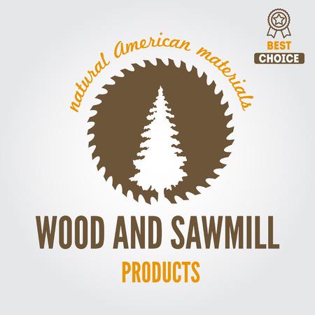 Illustration pour element for sawmill, carpentry and woodworkers - image libre de droit